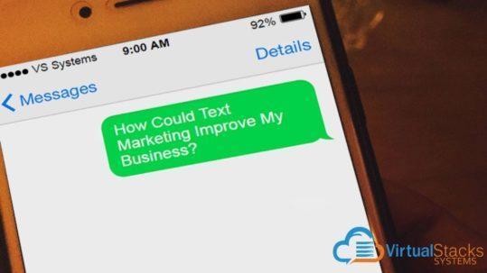 Customer Receiving Text Message