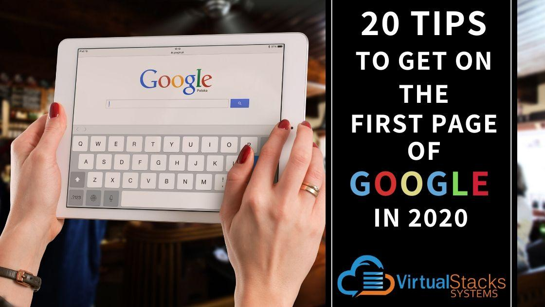20 Ways Front Page Google