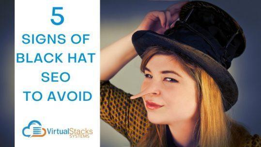 VS 5 Signs Black Hat SEO
